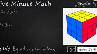 5th Grade Math Equations for Volume