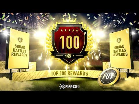 1ST IN THE WORLD SQUAD BATTLES REWARDS TOP100 REWARDS WITH CUSTOM TACTICS FIFA 20