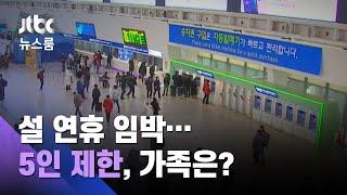 """""""고향 내려가도 될지…"""" 설 연휴 가족모임 '5인 제한'은? / JTBC 뉴스룸"""