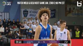 BALL BROTHERS SCORE 33 POINTS IN LITHUANIA LEAGUE GAME!!! | LIANGELO & LAMELO FULL HIGHLIGHTS!!!