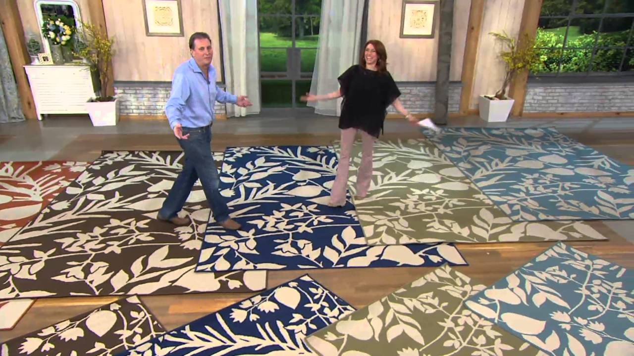 Tommy Bahama Indoor Outdoor Botanical Rug On Qvc Youtube