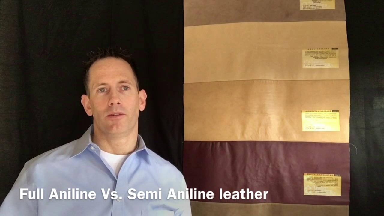 Full Aniline Vs Semi Aniline Leather Youtube