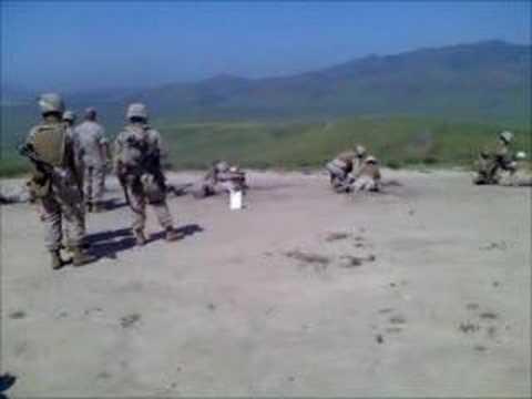 Marines firing M240G at camp pendleton