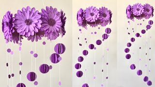Paper Flowers Wall Hanging | Room Decor Ideas