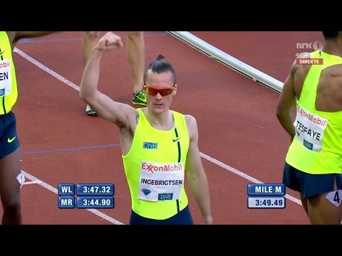 Dream Mile IAAF Diamond League Oslo Bislett Games 2014