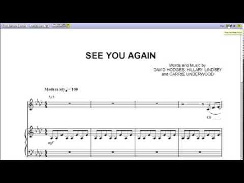 Piano piano chords see you again : Piano : piano chords see you again Piano Chords See You or Piano ...