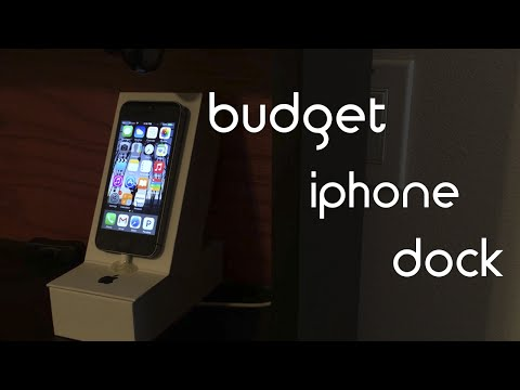Budget DIY iphone dock.