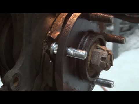 How to replace a wheel stud video demonstrated on 2006 hyundai sonata