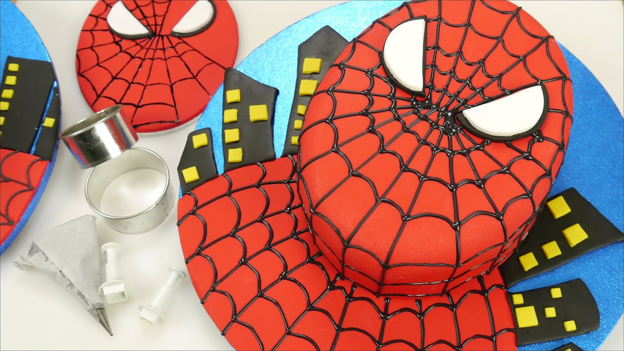 Simple Spiderman Cake YouTube