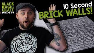 10 Second Brick Walls - GreenStuffWorld Rolling Pin Review (Black Magic Craft Episode 056)