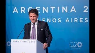 G20 Argentina, la conferenza stampa del Presidente Conte