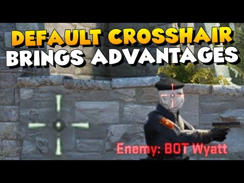 CS:GO - Why Playing Default Crosshair Brings Advantages!