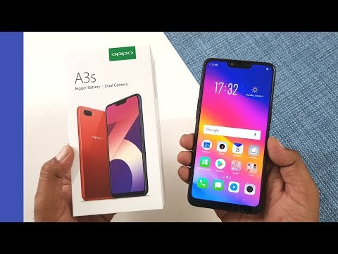 Oppo A3s Unboxing (Black) & Hands On !