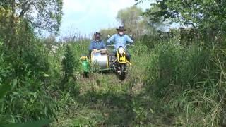 Мотоцикл Ирбит-СТ, поездка по вязовой.