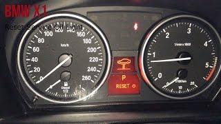 BMW X1 - Service Reset   Brake Pad Reset