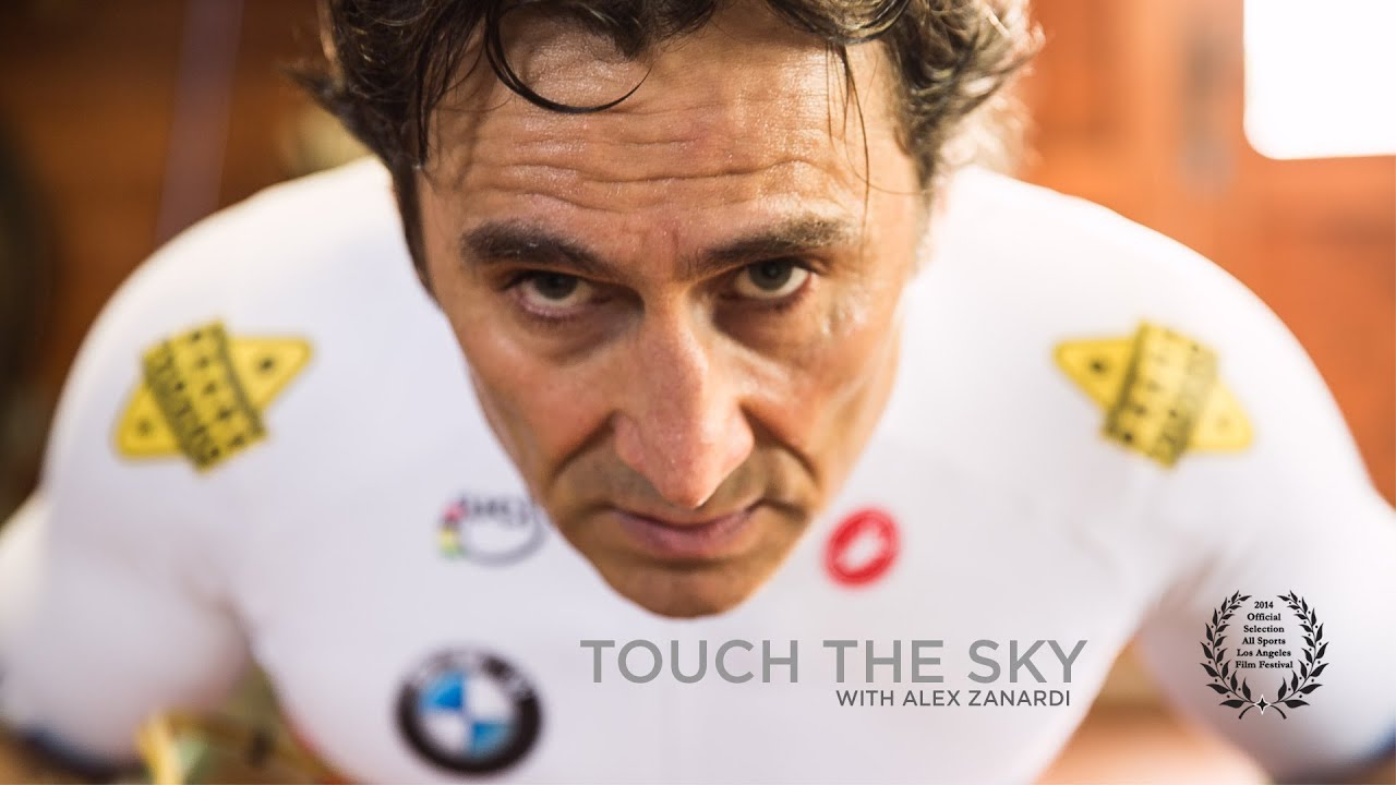 One of my hero's of the handcycling world Alex Zanardi  seriously injured in a handcycling accident