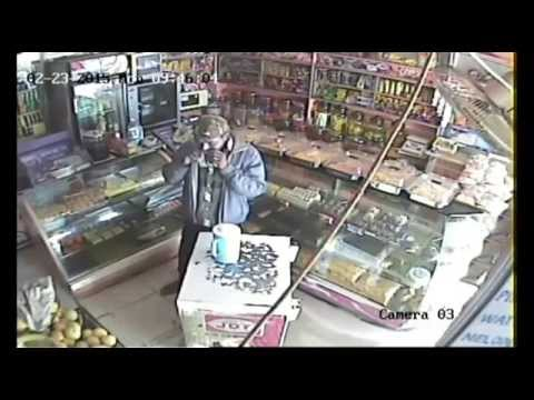 Thief stealing charity box from bakery - Bangalore [CCTV Footage]