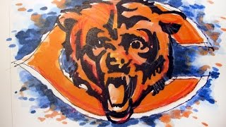 NFL Football Series:  Chicago Bears Time Lapse Drawing