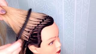 ПРИЧЕСКИ. Прическа из кос. Красивая прическа на День Рождения. Braided Hairstyle for Long Hair