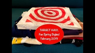 Target Haul - February 2019:  I Love this haul!!  Thinking Spring!🌸👗👚🌼💜🎯