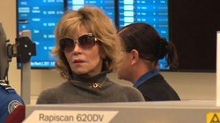 Film Icon Jane Fonda Jets Out Of LA