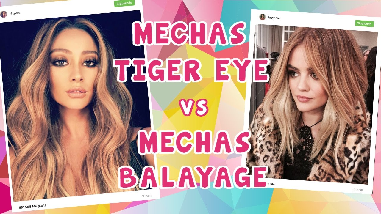 Mechas Tiger Eye Tiger Eye Hair Trend Vs Balayage Youtube