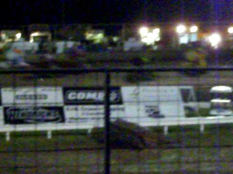 Sprintcar wreck at Riverside International Speedway