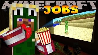 Minecraft Jobs - WORKING AT THE CINEMA! (Custom Roleplay)