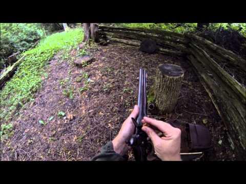 GoPro shooting an original 1802 British Sea Service flintlock pistol