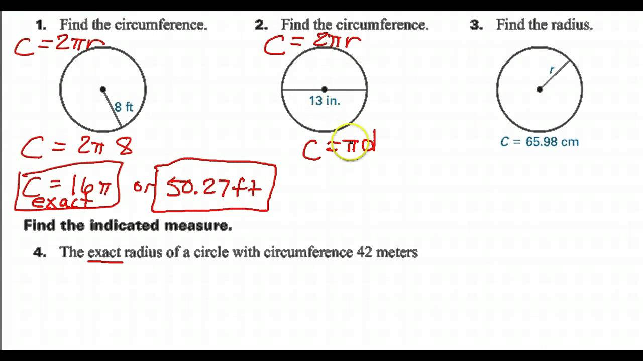 how to find the circumference of a circle using radius