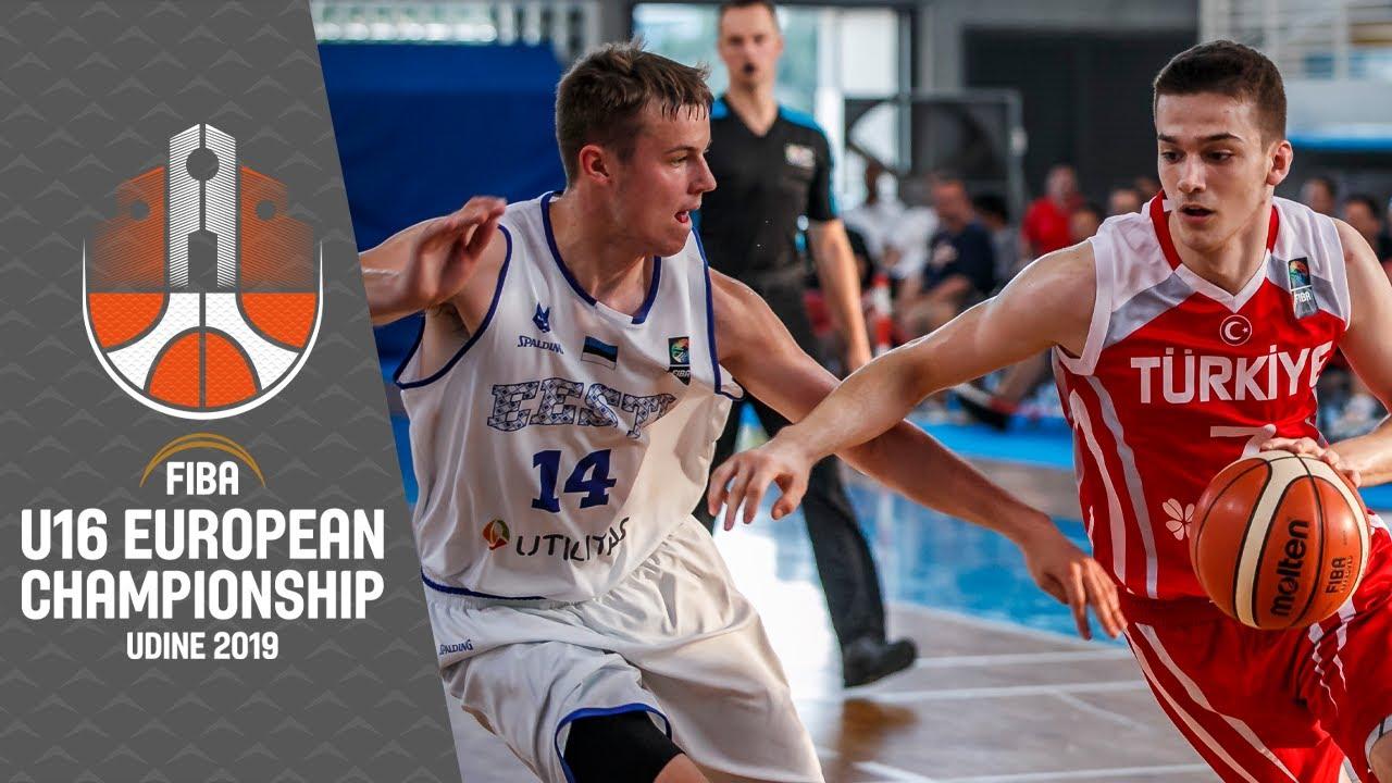 Estonia v Turkey - Full Game - FIBA U16 European Championship 2019