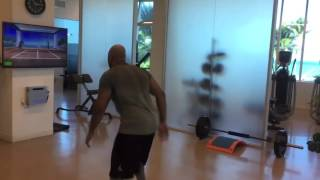 FLO RIDA working out with TRAZER