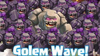 Clash Of Clans - GOLEM WAVE!!! OVERPOWERED RAIDS IN WAR (7th perk pushing)