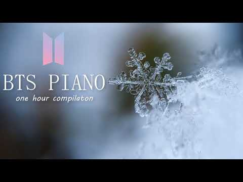 1 Hour Relaxing BTS Piano for Sleeping and Studying