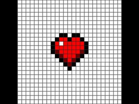 Pixel Art Un Coeur