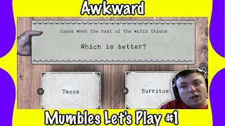 Cringe Worthy Questions? - Awkward (Would You Rather) - MumblesVideos Gameplay #1