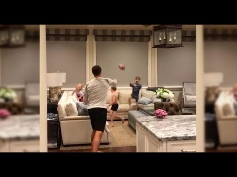 DREW BREES Throwing TD PASSES to his KIDS (MUST WATCH)