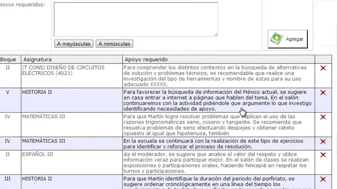 modificar el contenido de Apoyos Requeridos u Observaciones. - YouTube