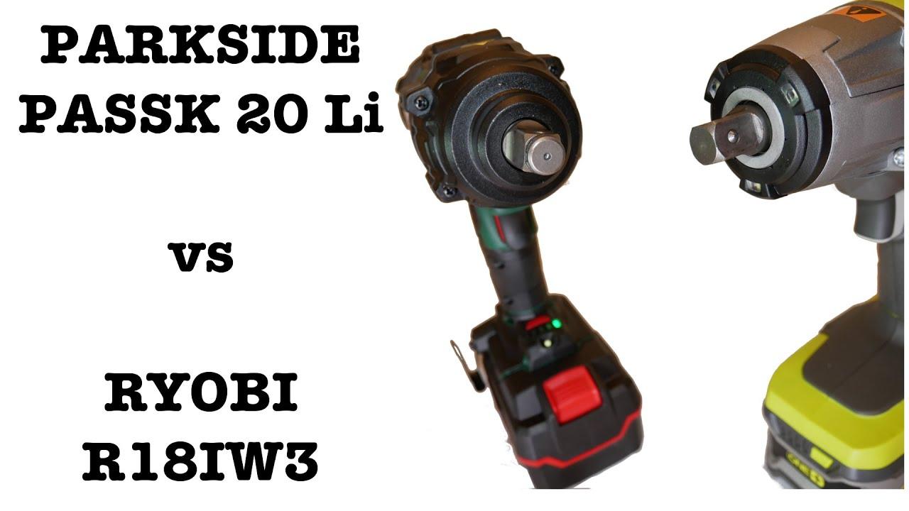 019 Klucze Udarowe I Drewno Parkside Passk 20 Li Vs Ryobi R18iw3 Youtube