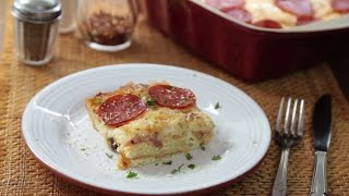Pizza Recipes - How To Make Leftover Pizza Breakfast Casserole