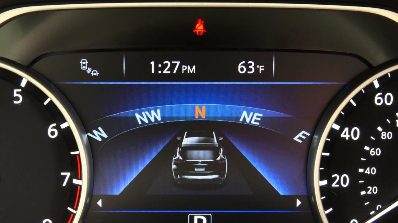 2016 NISSAN Murano - Seat Belt Warning Light and Chime