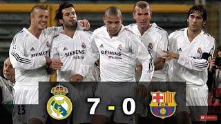 ريال مدريد & برشلونة 7-0 فوز كاسح لريال مدريد