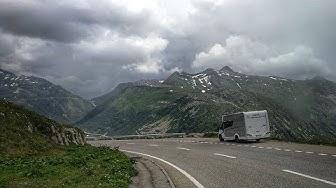 Schweiz mit dem Wohnmobil.  Grimselpass.