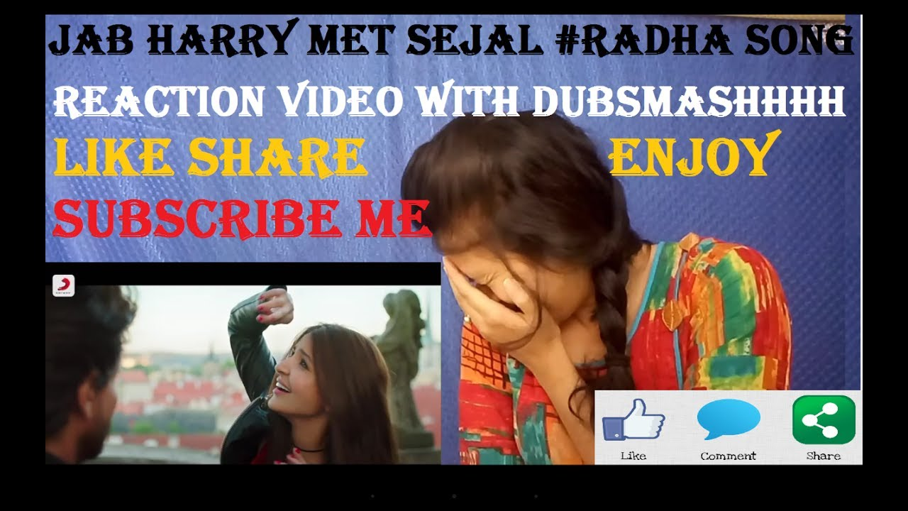 Download MAIN BANI TERI RADHA #REACTION VIDEO #DUBSMASH #MUSICAL LY #MANN JAIN #JAB HARRY MET SEJAL HD