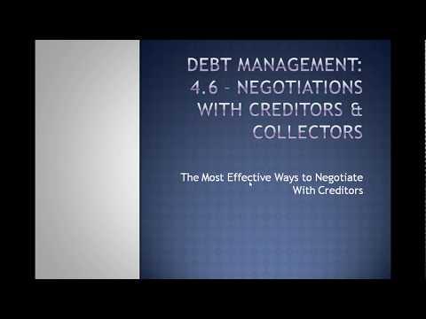 4.6 Debt Management Negotiations With Creditors