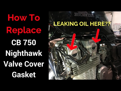 CB750 Nighthawk: Valve Cover Gasket Replacement