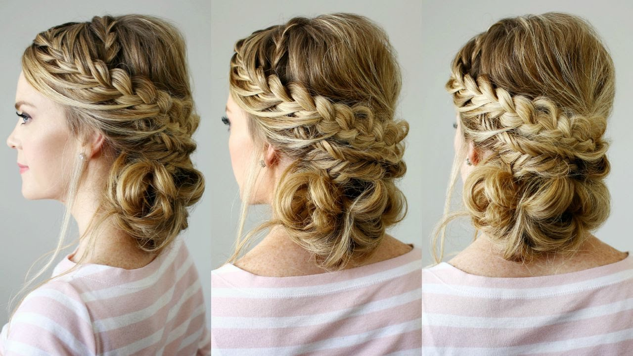 double braid textured updo missy