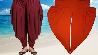 Repeat youtube video How To Cut And Stitch Dhoti Salwar | Samosa Salwar | Step By Step