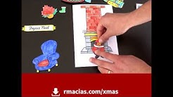 Kids DIY Christmas Card Idea (Free Multilingual Printable) - Box of ideas