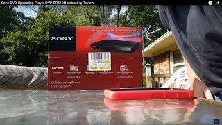 Sony DVD Upscaling Player DVP-SR510H unboxing Review
